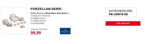 Villeroy & Boch Mariefleur Gris Basic Kaffee Set aus Porzellan mit Blumenmuster/18 teilig für 6 Personen - jetzt 29% billiger
