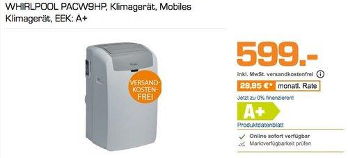 WHIRLPOOL PACW9HP, Mobiles Klimagerät, EEK: A+ - jetzt 8% billiger