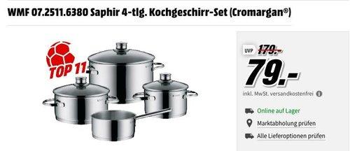WMF 07.2511.6380 Saphir 4-tlg. Kochgeschirr-Set - jetzt 24% billiger