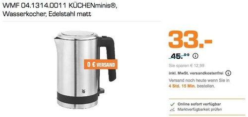 WMF Küchenminis 0.8 Liter Wasserkocher - jetzt 25% billiger