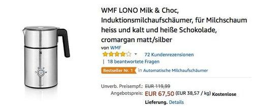 WMF LONO Milk & Choc Induktionsmilchaufschäumer - jetzt 20% billiger