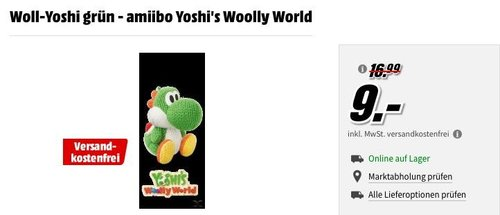 Woll-Yoshi grün - amiibo Yoshi's Woolly World - jetzt 43% billiger