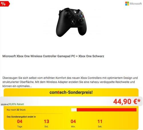 Xbox One Controller + Wireless Adapter für Windows - jetzt 16% billiger