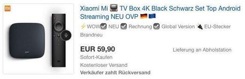 Xiaomi Mi TV Box 4K - jetzt 16% billiger