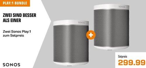 2 Sonos PLAY:1 WLAN-Speaker für Musikstreaming zum Setpreis - jetzt 16% billiger