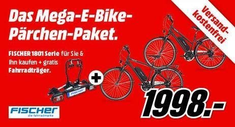 2 x Fischer 1801 Elektro-Trekkingrad kaufen plus 1x FISCHER 18090 Kupplungs-Fahrradträger Proline gratis - jetzt 2% billiger