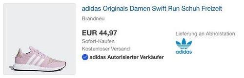 adidas Originals Damen Swift Run pink - jetzt 25% billiger
