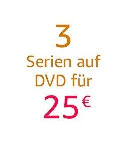 Amazon Aktion: 3 Serien auf DVD für 25 EUR bis 05 Aug. 2018 - jetzt 30% billiger