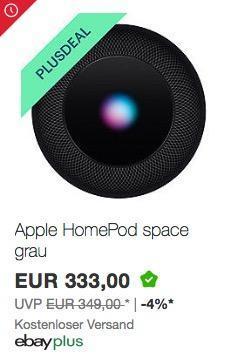 Apple HomePod spacegrau - jetzt 10% billiger