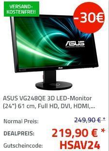 "ASUS VG248QE 3D LED-Monitor (24"") 61 cm - jetzt 12% billiger"