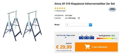 Atrox AY 519 Klappbock höhenverstellbar 2er Set - jetzt 33% billiger