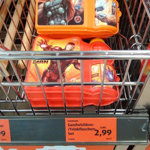 AVENGERS Sandwichbox/Trinkflaschen - Set - jetzt 40% billiger
