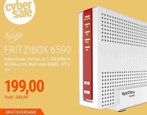 AVM FRITZ!Box 6590 Cable WLAN-ac Kabelmodem - jetzt 16% billiger