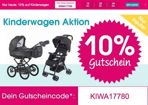 Babymarkt.de - 10% Rabatt auf Kinderwagen (nur heute, 01.07.18): z.B. hauck Geschwisterwagen Duett 2 black - jetzt 10% billiger
