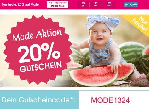 Babymarkt.de - 20% Rabatt auf Mode (nur heute, 04.07.18): z.B. CONVERSE Halbschuh Easy Ride Mid - jetzt 20% billiger