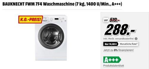 BAUKNECHT FWM 7F4 Waschmaschine (7 kg, 1400 U/Min., A+++ - jetzt 16% billiger