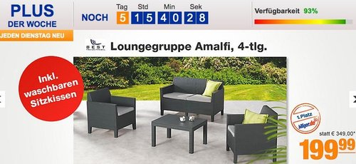 Best Freizeitmöbel Loungegruppe Amalfi - jetzt 27% billiger