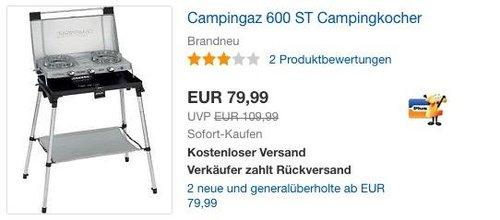 Campingaz 600 ST Campingkocher - jetzt 11% billiger