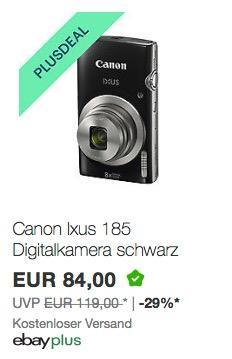 Canon Ixus 185 Digitalkamera in Schwarz - jetzt 15% billiger