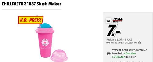 CHILLFACTOR 1688 Slush Maker - jetzt 30% billiger