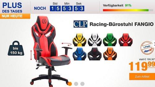 CLP Racing-Bürostuhl FANGIO mit Kunstlederbezug - jetzt 14% billiger