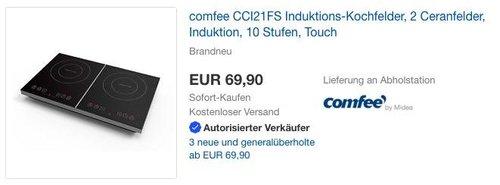 COMFEE CCI 21 FS freistehendes Induktions - Kochfeld, 2 Ceranfelder - jetzt 19% billiger