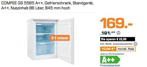 COMFEE GS 5585 A++ Gefrierschrank - jetzt 12% billiger