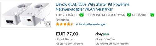 Devolo dLAN 550+ WiFi Starter Kit Powerline - jetzt 8% billiger