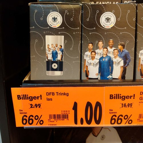 DFB Trinkglas - jetzt 67% billiger