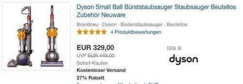 Dyson Small Ball Bürststaubsauger - jetzt 6% billiger