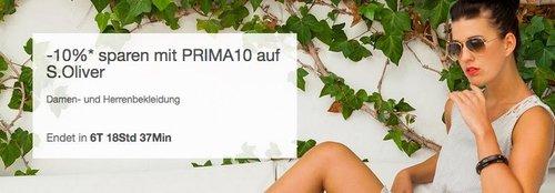 eBay 10% Rabat-Aktion auf S.Oliver Damen- und Herrenbekleidung: z.B. s.Oliver RED LABEL Blouson mit Stehkragen Damen - jetzt 19% billiger