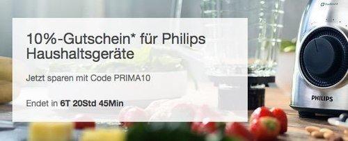 eBay - Aktion 10% Rabat auf ausgewählte Philips Haushaltsgeräte: z.B. Philips HF3520/01 Wake-Up Light - jetzt 10% billiger