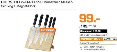 ECHTWERK EW-DM-0322-1 Damaszener, Messer-Set 5-tlg.+ Magnet-Block - jetzt 34% billiger
