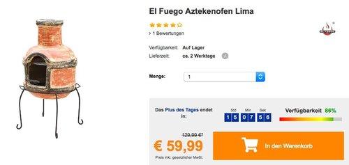 El Fuego Aztekenofen Lima - jetzt 13% billiger