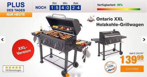 El Fuego Ontario XXL Holzkohle-Grillwagen - jetzt 23% billiger