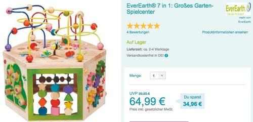EverEarth® 7 in 1: Großes Garten-Spielcenter - jetzt 11% billiger