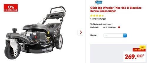Güde Big Wheeler Trike 465 D Blackline Benzin-Rasenmäher - jetzt 18% billiger