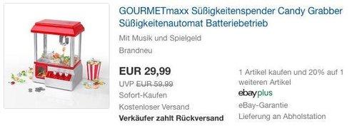 GOURMETmaxx Süßigkeitenautomat - jetzt 19% billiger