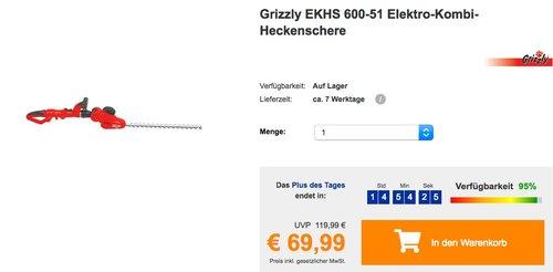 Grizzly EKHS 600-51 Elektro-Kombi-Heckenschere - jetzt 34% billiger