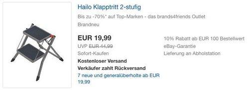 Hailo Klapptritt 2-stufig - jetzt 43% billiger