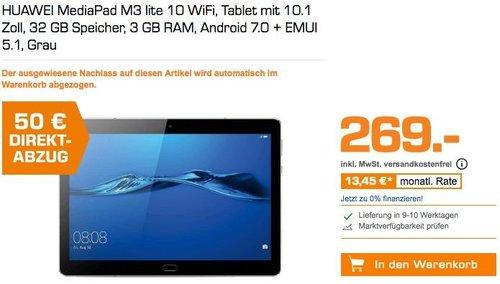 HUAWEI MediaPad M3 lite 10 WiFi 32 GB 10.1 Zoll Tablet schwarz - jetzt 12% billiger