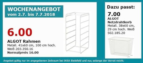 IKEA ALGOT Rahmen - jetzt 63% billiger
