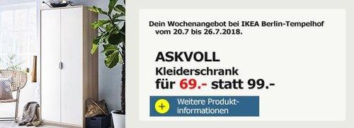 IKEA Berlin-Tempelhof ASKVOLL Kleiderschrank - jetzt 30% billiger