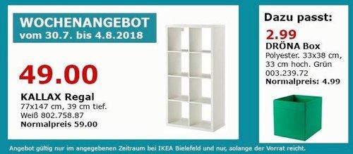 IKEA Bielefeld KALLAX Regal, 77x147 cm - jetzt 17% billiger