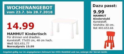 IKEA Bielefeld MAMMUT Kindertisch - jetzt 25% billiger