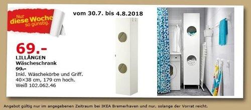 IKEA Bremerhaven LILLANGEN Wäscheschrank - jetzt 30% billiger