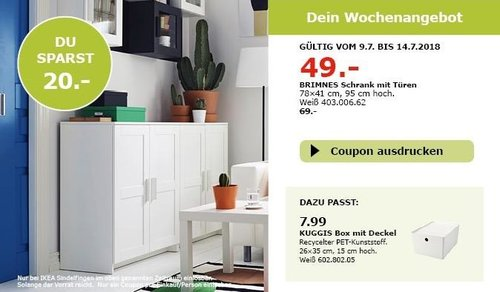 ikea brimnes schrank mit t ren f r 49 00 29. Black Bedroom Furniture Sets. Home Design Ideas