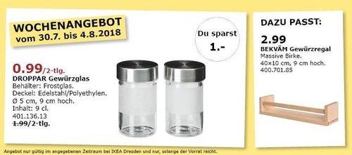 IKEA Dresden DROPPAR Gewürzglas, 2-tlg - jetzt 50% billiger