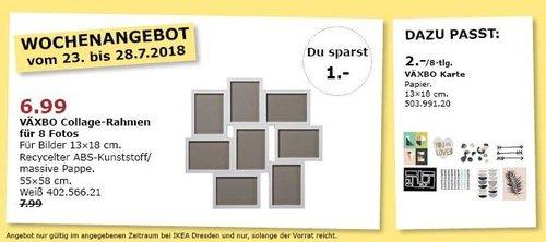 IKEA Dresden  VÄXBO Collage-Rahmen - jetzt 13% billiger