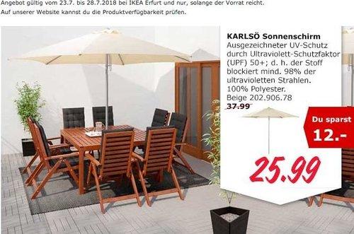 IKEA Erfurt KARLSÖ Sonnenschirm - jetzt 32% billiger